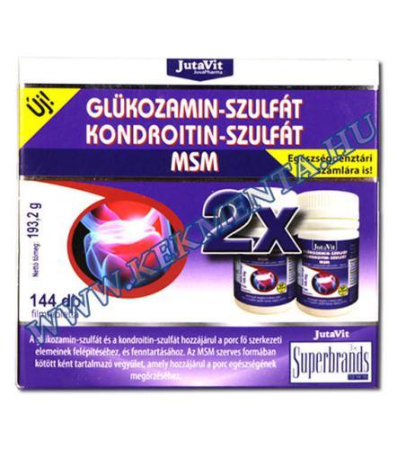 A JutaVit Glükozamin + Kondroitin + MSM tabletta 144 db