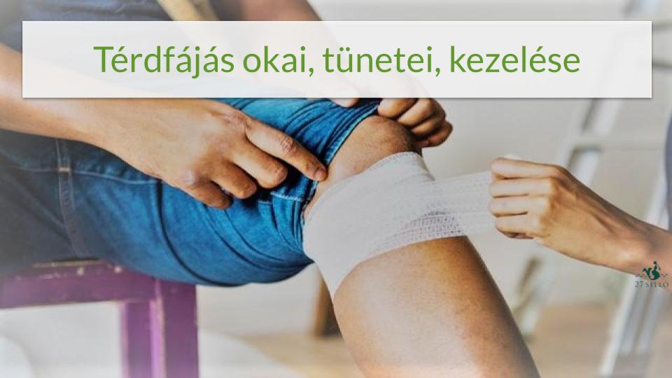 súlyosan fájó térdízület-kezelés)