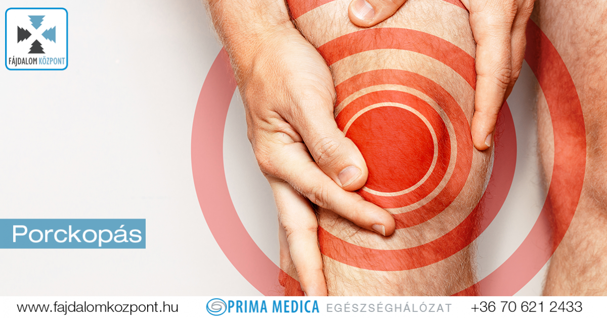 fájdalom és súlyos ropogás a térdízületben)