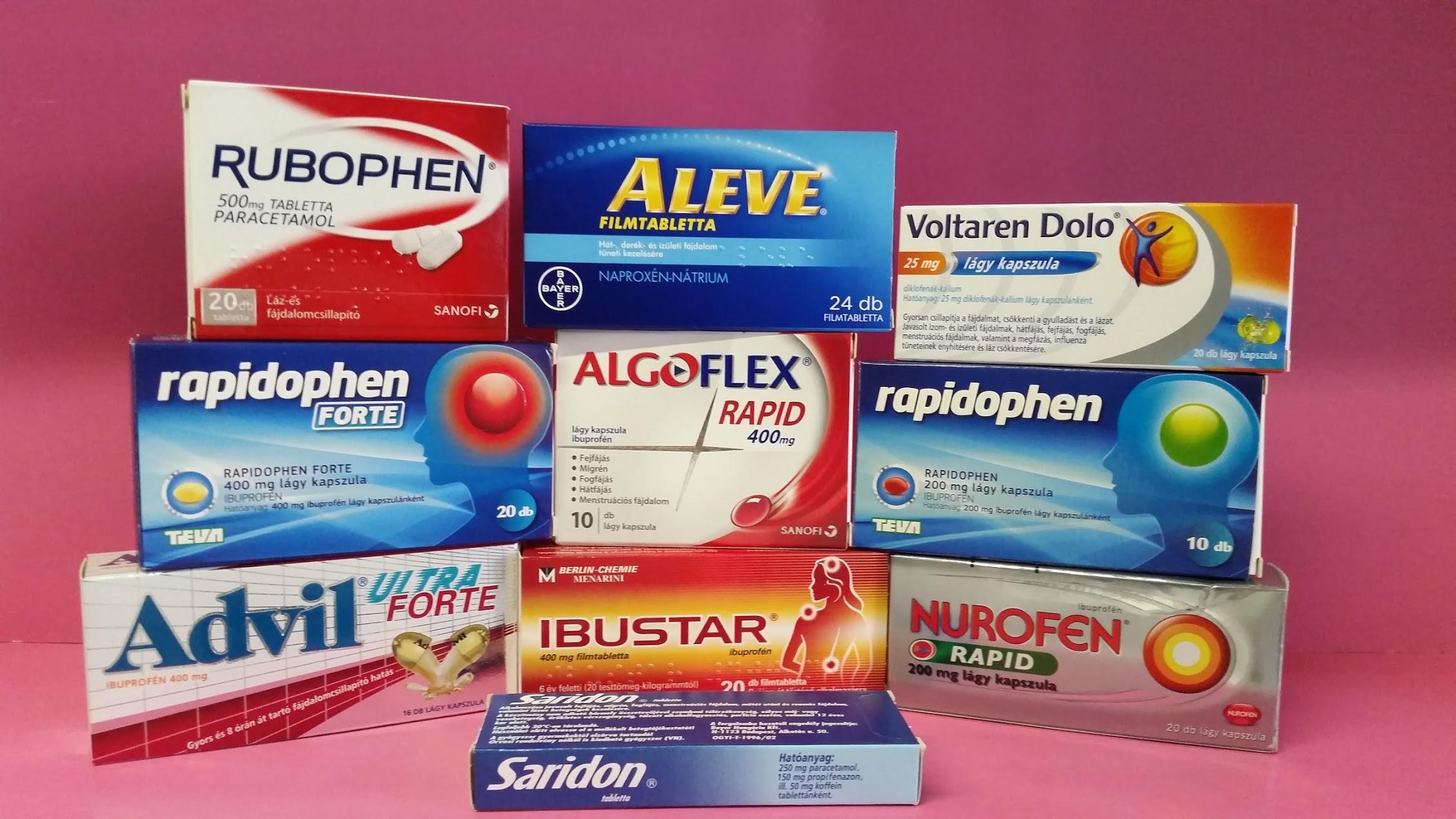 fájdalomcsillapító gyógyszer a csípőfájdalomra