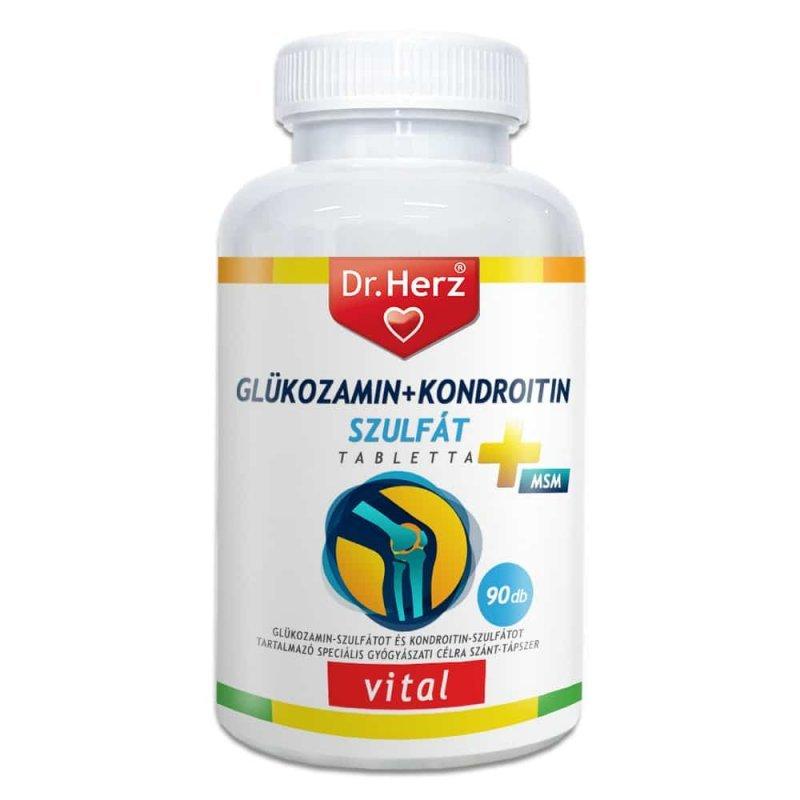 aktív adalékanyagok kondroitin és glükózamin mellett
