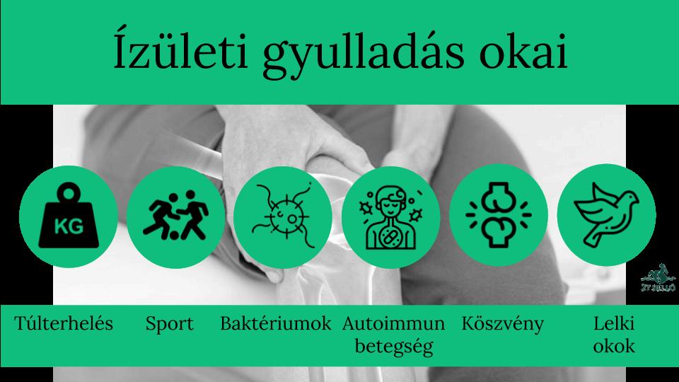 vesemedence gyulladás derékfájás térdízületi kezelés és táplálás