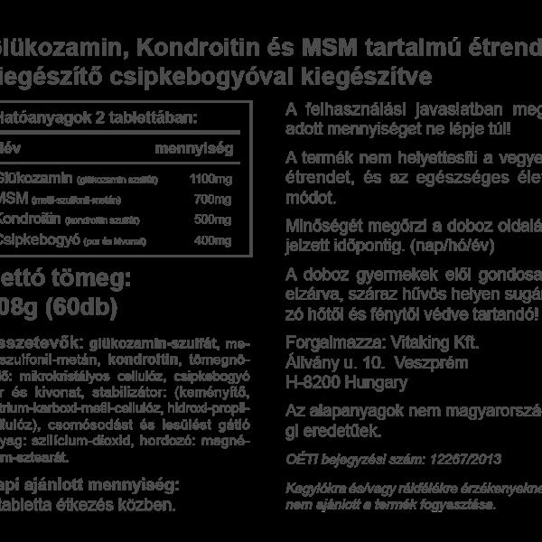 glükózamin-kondroitin komplex összetétele