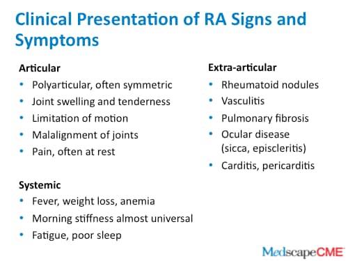 rheumatoid arthritis medscape)